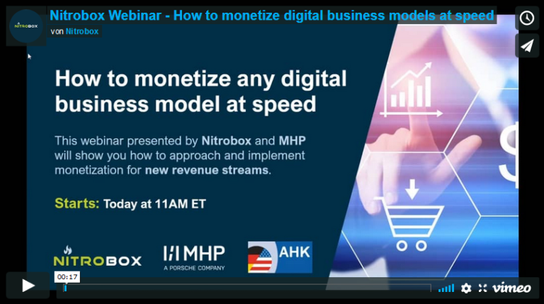 Webinar – How to monetize digital business models at speed